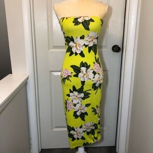 Yellow DNA Couture Tropical Dress NWOT XS/S